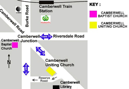 Camberwell Uniting Church Map