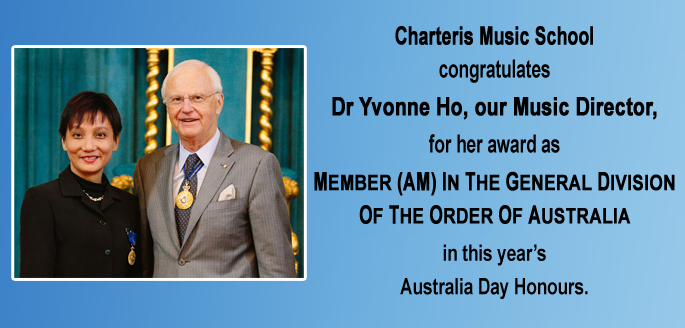 Dr Yvonne Ho with her award Member In The General Division Of The Order Of Australia (AM)
